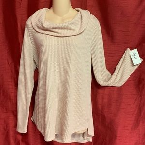 """Style & Co. """"Core Thermals"""" Cowl Neck Top Size XL"""